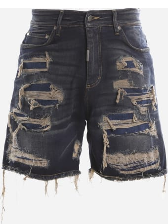 REPRESENT Stretch Denim Jeans With Destroyed Effect Finishes