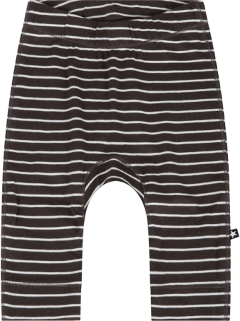 Molo Grey Trouser For Baby Kids With Stripes