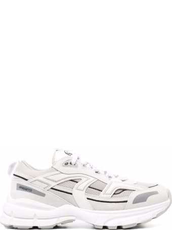 Axel Arigato Marathon R Trailer Sneakers In White Leather And Tech Fabric