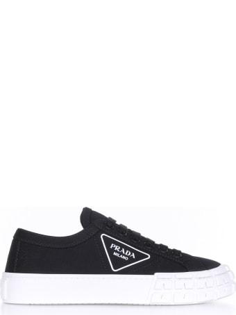 Prada Gabardine Fabric Sneakers