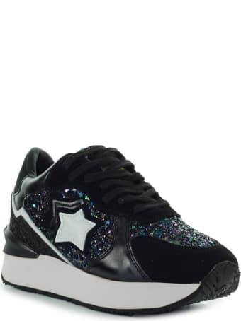 Atlantic Stars Andromeda Black Glitter Sneaker