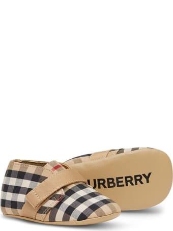 Burberry Charlton Check Newborn Shoes