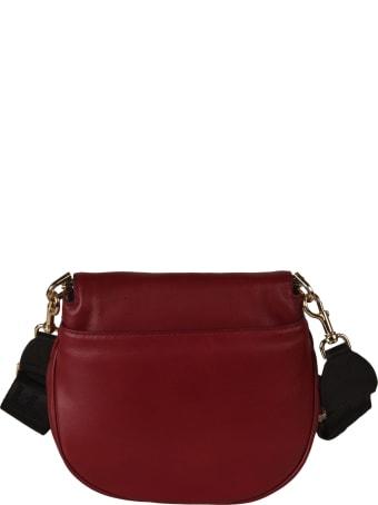 Furla Embossed Logo Flap Shoulder Bag