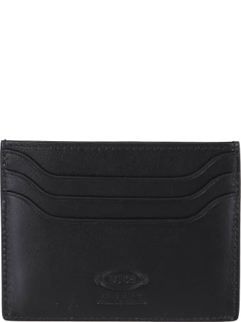 Tod's Black Leather Cardholder