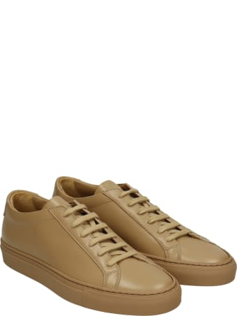 Common Projects Achille Sneakers In Taupe Leather