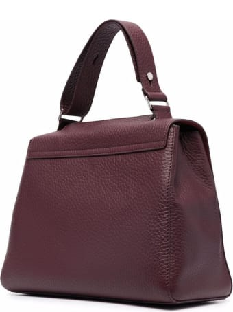 Orciani Sveva Soft Medium Bordeaux Handbag
