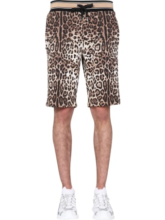 Dolce & Gabbana Bermuda With Leopard Print