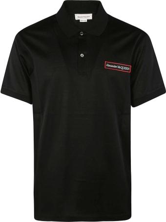 Alexander McQueen Chest Logo Embroidered Polo Shirt
