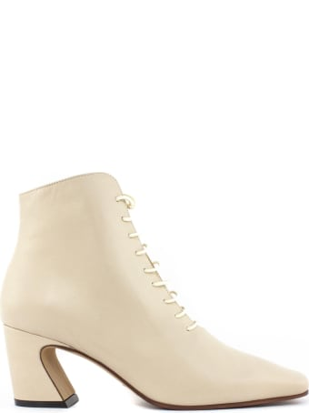 Roberto Festa Aterno Ankle Boot In Cream Leather
