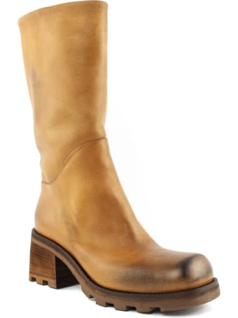 Elena Iachi Boot In Light Brown Leather