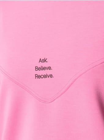 Merci Pink Sweatshirt In Modal Blend With Print