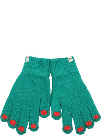 Bobo Choses Green Gloves For Kids With Logo