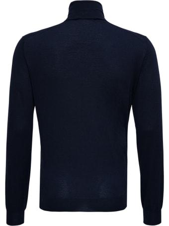 Lardini Blue Wool And Silk Sweater