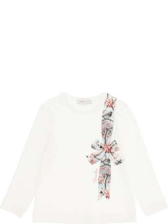 Monnalisa Jersey T-shirt With Bow Print