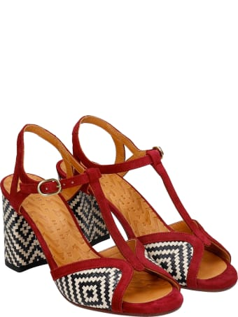 Chie Mihara Fabin Sandals In Bordeaux Suede