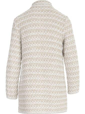 Anneclaire Lurex Bicolour Coat