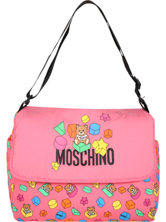 Moschino Pink Changing Bag For Babygirl
