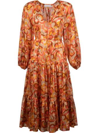 Zimmermann Mae Tiered Midi Dress