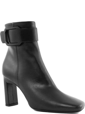 Roberto Festa Black Leather Kansas Ankle Boot