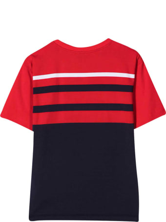 Moschino Red And Blue T-shirt With Toy Print