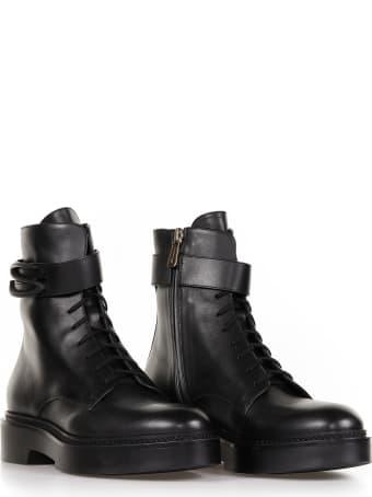 Santoni Santoni Leather Ankle Boots