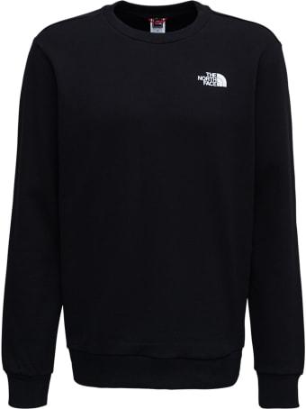 The North Face Black Cotton Sweatshirt With Logo Print