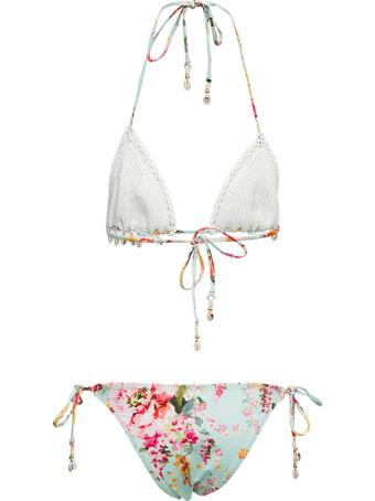 Zimmermann Mae Crochet Bikini With Shells Detail