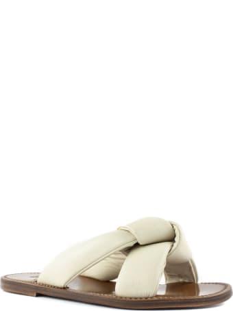 Silvano Sassetti Beige Leather Low Sandals