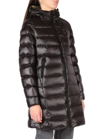 Blauer Long Down Jacket In Technical Fabric