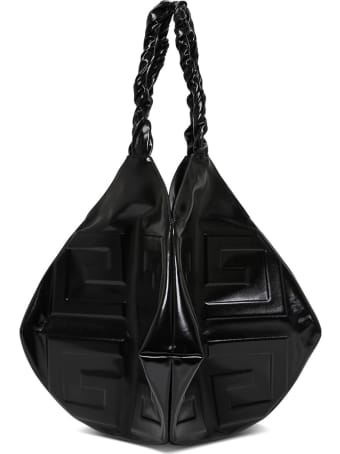 Givenchy Balle Large Handbag In Black Leather With Logo