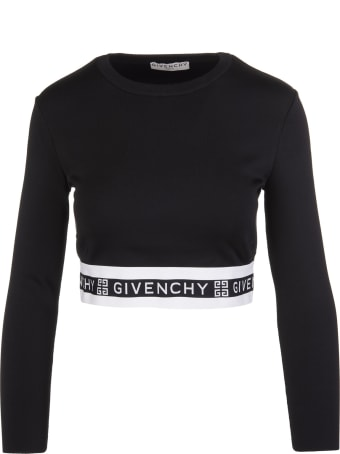 Givenchy Logo Band Cropped Top