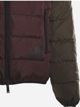Dsquared2 Color-block Down Jacket In Technical Fabric