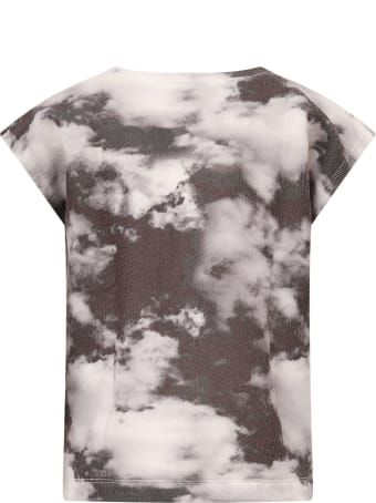 Goganga Black T-shirt With Grey Clouds