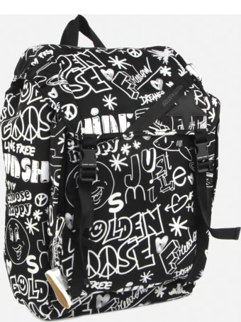 Golden Goose Nylon Backpack With All-over Contrasting Prints