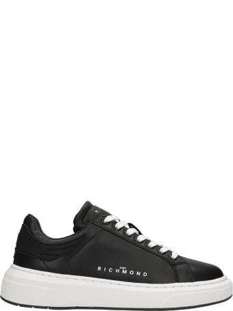 John Richmond Sneakers In Black Leather
