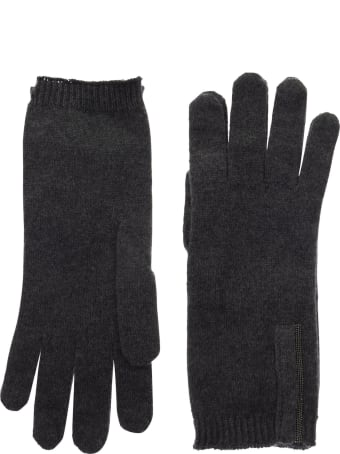 Brunello Cucinelli Cashmere Knit Gloves With Monili