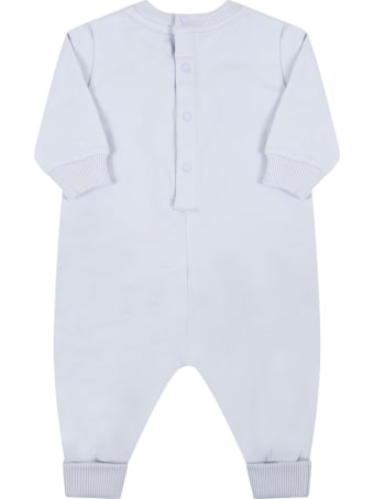Givenchy Light Blue Babygrow For Baby Boy With Logo