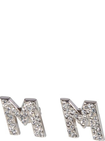 MSGM Crystal Logo Earrings