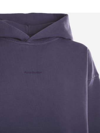 Acne Studios Cotton Sweatshirt With Mini Tone-on-tone Front Logo