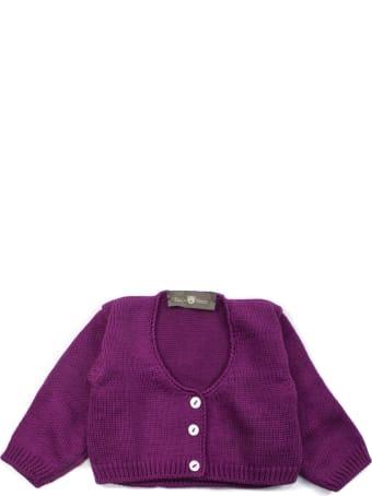Little Bear Purple Cotton Cardigan