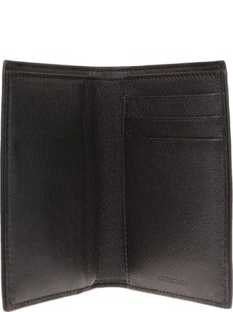 Balenciaga Man Black Cash Vertical Wallet