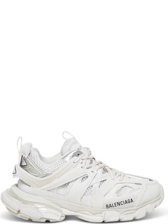 Balenciaga White Mesh And Nylon Track Sneakers