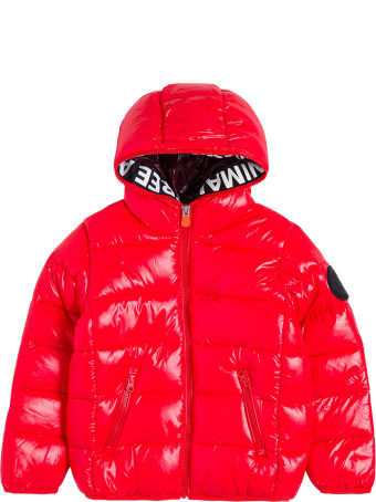 Save the Duck Kate Red Nylon Ecologcal Down Jacket With Logo