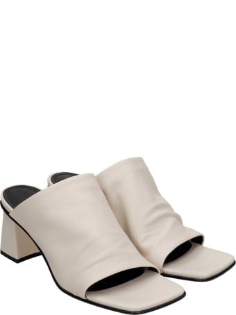 Fabio Rusconi Sandals In Beige Leather