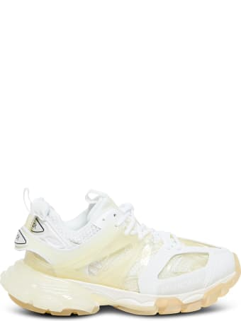 Balenciaga Track Clear Sole Sneakers In Mix Of Materials