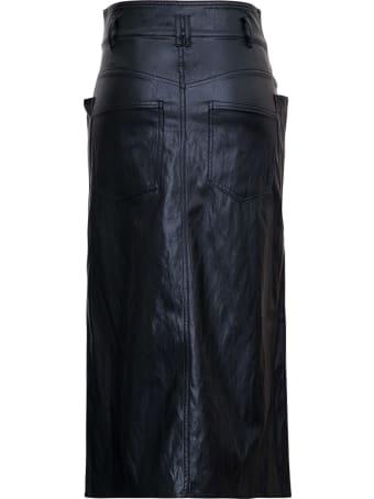 Isabel Marant Étoile Black Leathret Longuette With Pockets