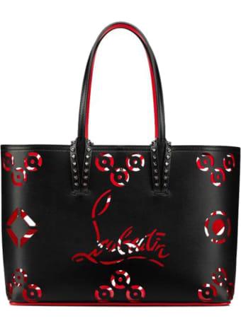 Christian Louboutin Black Leather Cabata Loubinthesky Perfore