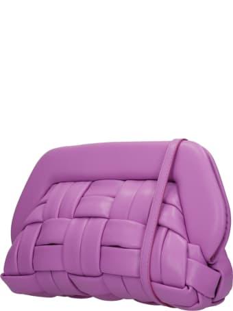 THEMOIRè Bios Weaved Clutch In Viola Faux Leather