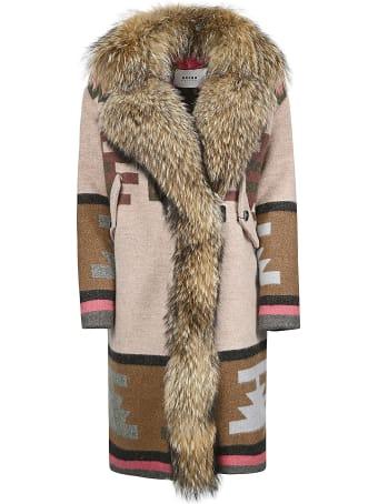 Bazar Deluxe Furred Printed Coat