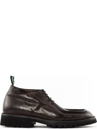 Green George Lace-up In Dark Brown Leather
